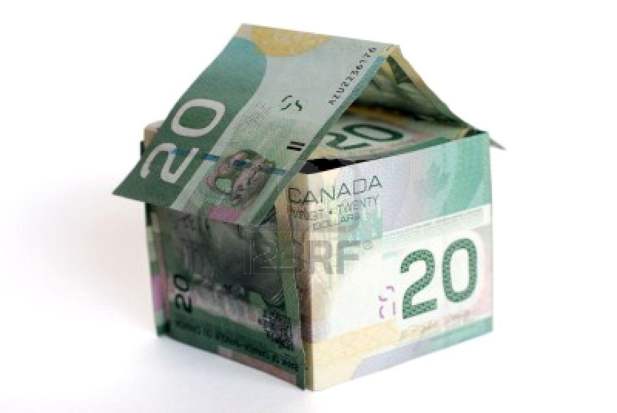 818524-canadian-money-house-on-white-background